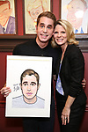 Ben Platt and Kelli O'Hara attend the Ben Platt Sardi's Portrait unveiling at Sardi's on May 30, 2017 in New York City.