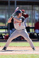 February 28, 2010:  Catcher Aaron Johnson (7) of Illinois Fighting Illini during the Big East/Big 10 Challenge at Raymond Naimoli Complex in St. Petersburg, FL.  Photo By Mike Janes/Four Seam Images