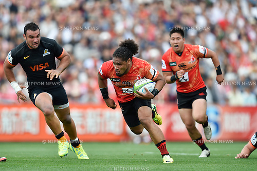 Mifiposeti Paea (Sunwolves), April 23, 2016 - Rugby : Super Rugby match between Sunwolves 38-26 Jaguares at Prince Chichibu Memorial Stadium in Tokyo, Japan. (Photo by Yuka Shiga/AFLO)