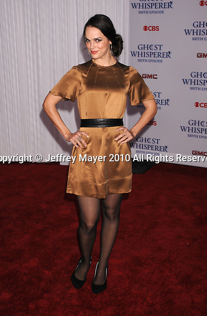 """WEST HOLLYWOOD, CA. - March 01: Erin Cahill  arrives to the """"Ghost Whisperer"""" 100th Episode Celebration at XIV on March 1, 2010 in West Hollywood, California."""