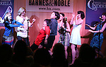 Ann Harada with the ensemble cast during the 'Rodgers + Hammerstein's Cinderella'  Original Cast Recording CD release performance at Barnes & Noble 86th Street in New York City on June 13, 2013