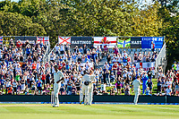 Jack Leach celebrates with  Jonny Bairstow of England getting to 100 runs during Day 2 of the Second International Cricket Test match, New Zealand V England, Hagley Oval, Christchurch, New Zealand, 31th March 2018.Copyright photo: John Davidson / www.photosport.nz