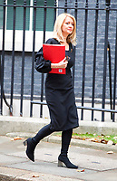 LONDON, UNITED KINGDOM - NOVEMBER 06: Secretary of State for Work and Pensions Esther McVey leaves after a Cabinet meeting at 10 Downing Street in central London. November 06, 2018 in London, England. <br /> CAP/GOL<br /> &copy;GOL/Capital Pictures