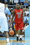 09 November 2012: Gardner-Webb's Jarvis Davis. The University of North Carolina Tar Heels played the Gardner-Webb University Runnin' Bulldogs at Dean E. Smith Center in Chapel Hill, North Carolina in an NCAA Division I Men's college basketball game. UNC won the game 76-59.