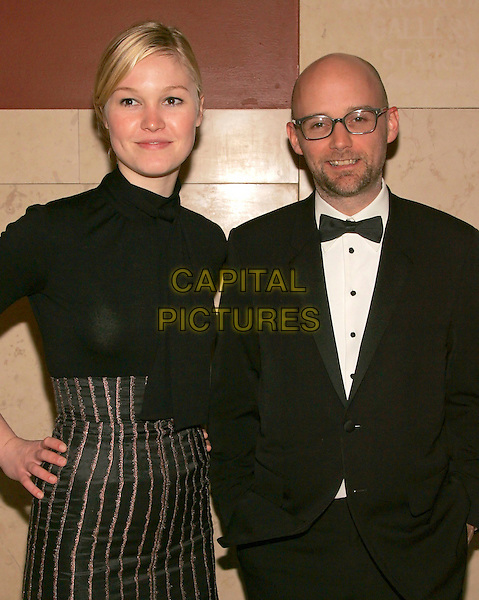 JULIA STILES & MOBY.The American Museum of Natural History's Annual Winter Dance celebrating the Desert Oasis theme, New York, NY, USA. .February 16th, 2006.Photo: Jackson Lee/Admedia/Capital Pictures.Ref: JL/ADM.half length black top bow tie glasses.www.capitalpictures.com.sales@capitalpictures.com.© Capital Pictures.