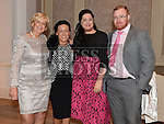 Linda Giles, Sabrina Bellew, Ardee Rose Jackie G and Sean Murphy pictured at the Ardee Traders annual awards night in the Nuremore Hotel. Photo:Colin Bell/pressphotos.ie