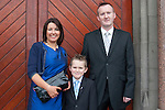 Niall Gallagher who made his First Communion at St. Mary's Church on Saturday 16th May, pictured with Seamus Gallagher and Debbie Costello.