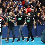08.01.2019, Hohenschoenhausen, Berlin, GER, Handball WM, DHB,  TRAINING, im Bild <br /> Cheftrainer (Head Coach) Christian Prokop (GER), Co-TrainerAlexander Haase (GER), Teamkoordinator Oliver Roggisch (GER)<br /> <br />      <br /> Foto &copy; nordphoto / Engler