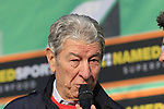 Cycling legend and Bergamo native Felice Gimondi at sign on before the start of the 112th edition of Il Lombardia 2018, the final monument of the season running 241km from Bergamo to Como, Lombardy, Italy. 13th October 2018.<br /> Picture: Eoin Clarke | Cyclefile<br /> <br /> <br /> All photos usage must carry mandatory copyright credit (© Cyclefile | Eoin Clarke)