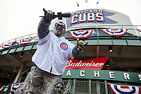 General view of a Chicago Cubs Harry Caray statue before Game 5 of the Major League Baseball World Series against the Cleveland Indians on October 30, 2016 at Wrigley Field in Chicago, Illinois.  (Mike Janes/Four Seam Images)