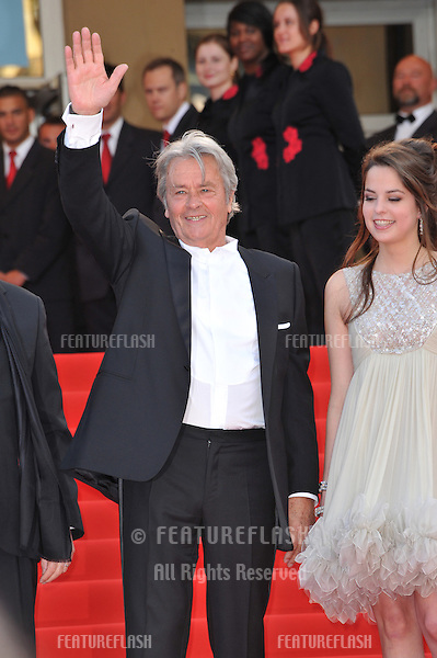 "Alain Delon & Anouchka Delon at the premiere screening of ""Wall Street: Money Never Sleeps"" at the 63rd Festival de Cannes..May 14, 2010  Cannes, France.Picture: Paul Smith / Featureflash"