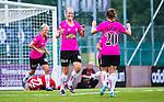 Solna 2014-08-16 Fotboll Damallsvenskan AIK - Kopparbergs/G&ouml;teborg FC :  <br /> Kopparbergs/G&ouml;teborgs Annica Sj&ouml;lund jublar med Manon Melis  efter sitt 0-2 m&aring;l<br /> (Foto: Kenta J&ouml;nsson) Nyckelord:  AIK Gnaget Kopparbergs G&ouml;teborg Kopparbergs/G&ouml;teborg jubel gl&auml;dje lycka glad happy