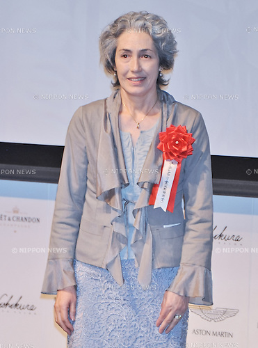 "Mariko Natsuyagi, May 2, 2013 :  Tokyo, Japan : Mariko Natsuyagi (actor Isao Natsuyagi's wife) attends the award ceremony of ""Japan movie critics award"" in Tokyo, Japan, on May 2, 2013. (Photo by AFLO)"