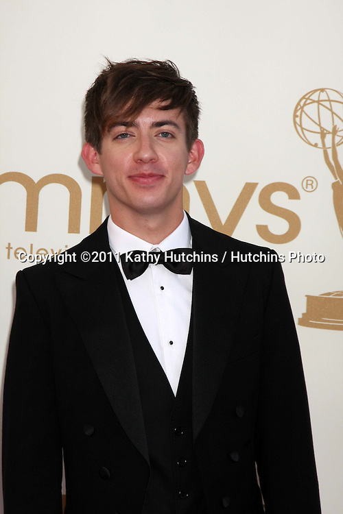 LOS ANGELES - SEP 18:  Kevin McHale arriving at the 63rd Primetime Emmy Awards at Nokia Theater on September 18, 2011 in Los Angeles, CA