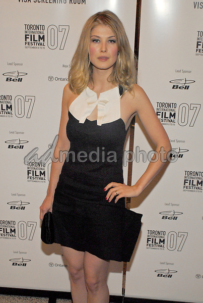 10 September 2007 - Toronto, Ontario - Rosamund Pike. 'Atonement' North American Premiere Screening during the Toronto International Film Festival 2007 held at Elgin Theatre. Photo Credit: Brent Perniac/AdMedia