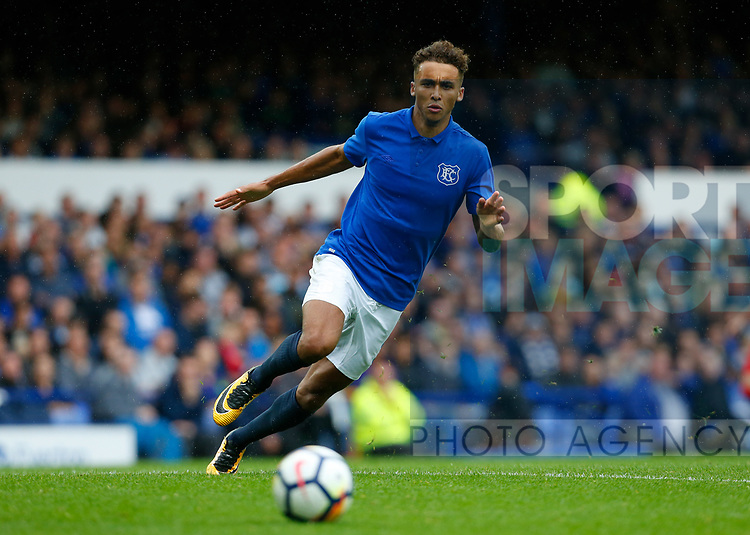 Everton's Dominic Calvert-Lewin during the pre season friendly match at Goodison Park Stadium, Liverpool. Picture date 6th August 2017. Picture credit should read: Paul Thomas/Sportimage