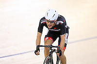 Aaron Gate at the BikeNZ Elite & U19 Track National Championships, Avantidrome, Home of Cycling, Cambridge, New Zealand, Sunday, March 16, 2014. Credit: Dianne Manson