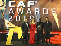 January 7th 2020, Hugharda, Egypt;  Senegalese football player Sadio Mane 2nd R poses with guests after receiving the Player of the Year award during the 28th Confederation of African Football CAF Awards in Hurghada, Egypt, on Jan. 7, 2020.