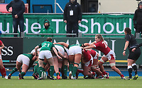 9nd February 2020; Energia Park, Dublin, Leinster, Ireland; International Womens Rugby, Six Nations, Ireland versus Wales; the Irish scrum drives towards the Welsh try line
