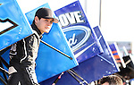 BRANDON, SD - MAY 12:  NASCAR's Kyle Larson watches hot laps from the infield Sunday night at Huset's Speedway in Brandon.  (Photo by Dave Eggen/Inertia)