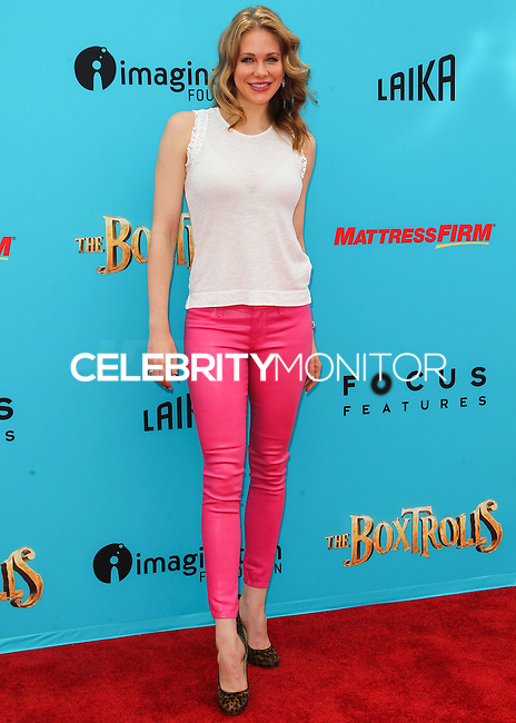 UNIVERSAL CITY, CA, USA - SEPTEMBER 21: Maitland Ward arrives at the Los Angeles Premiere Of Focus Features' 'The Boxtrolls' held at Universal CityWalk on September 21, 2014 in Universal City, California, United States. (Photo by Celebrity Monitor)