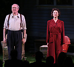 "Tracy Letts and Annette Bening during the Broadway Opening Night Curtain Call for ""All My Sons"" at The American Airlines Theatre on April 22, 2019  in New York City."