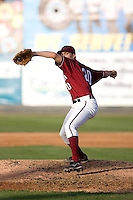 July 4, 2009: Yakima Bears pitcher Brad Gemberling toes the rubber during a Northwest League game against the Everett AquaSox at Everett Memorial Stadium in Everett, Washington.
