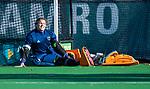 Laren - Karlijn Adank (Lar) tijdens de Livera hoofdklasse  hockeywedstrijd dames, Laren-Oranje Rood (1-3).  COPYRIGHT KOEN SUYK