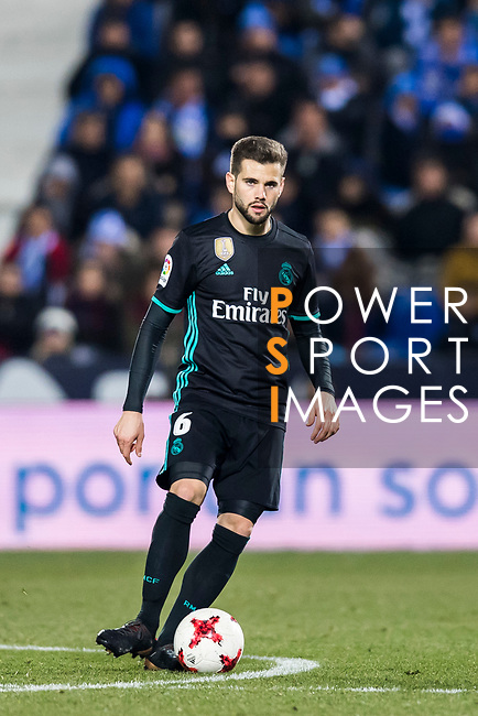 Nacho Fernandez of Real Madrid in action during the Copa del Rey 2017-18 match between CD Leganes and Real Madrid at Estadio Municipal Butarque on 18 January 2018 in Leganes, Spain. Photo by Diego Gonzalez / Power Sport Images
