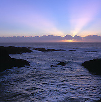 Sunset over the Pacific on the Mendocino Coast