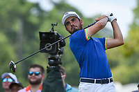 Abraham Ancer (MEX) watches his tee shot on 4 during round 2 of the 2019 Tour Championship, East Lake Golf Course, Atlanta, Georgia, USA. 8/23/2019.<br /> Picture Ken Murray / Golffile.ie<br /> <br /> All photo usage must carry mandatory copyright credit (© Golffile | Ken Murray)