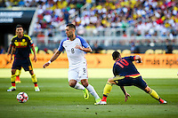 Action photo during the match United States vs Colombia, Corresponding Group -A- America Cup Centenary 2016, at Levis Stadium<br /> <br /> Foto de accion durante e partido Estados Unidos vs Colombia, Correspondiante al Grupo -A-  de la Copa America Centenario USA 2016 en el Estadio Levis, en la foto: (i-d), Clint Dempsey de USA y James Rodriguez de Colombia<br /> <br /> <br /> 03/06/2016/MEXSPORT/German Alegria.