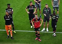 v. l. Ramazan Oezcan (Bayer Leverkusen), Edmond Tapsoba (Bayer Leverkusen), Sven Bender (Bayer Leverkusen), Florian Wirtz, Moussa Diaby (Bayer Leverkusen) enttaeuscht, enttaeuscht schauend, dissapointed<br /> Fussball, Herren, Saison 2019/2020, 77. Finale um den DFB-Pokal in Berlin, Bayer 04 Leverkusen - FC Bayern München, 04.07. 2020, Foto: Matthias Koch/POOL/Marc Schueler/Sportpics.de