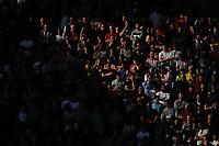 Sheffield United fans watch their team in action <br /> <br /> Photographer Kevin Barnes/CameraSport<br /> <br /> The EFL Sky Bet Championship - Preston North End v Sheffield United - Saturday 6th April 2019 - Deepdale Stadium - Preston<br /> <br /> World Copyright © 2019 CameraSport. All rights reserved. 43 Linden Ave. Countesthorpe. Leicester. England. LE8 5PG - Tel: +44 (0) 116 277 4147 - admin@camerasport.com - www.camerasport.com