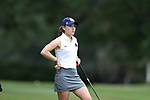 WILMINGTON, NC - OCTOBER 28: Notre Dame's Emma Albrecht on the 12th tee. The second round of the Landfall Tradition Women's Golf Tournament was held on October 28, 2017 at the Pete Dye Course at the Country Club of Landfall in Wilmington, NC.