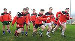 Pobal Scoil Chorcha Dhuibhne players training ahead of the  Munster Colleges Corn Uí Mhuiri Final  on Sunday.    Picture: Eamonn Keogh (MacMonagle, Killarney)
