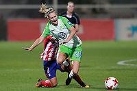 Atletico de Madrid's Sonia Bermudez (l) and VfL Wolfsburg's Lena Goessling during UEFA Womens Champions League 2017/2018, 1/16 Final, 1st match. October 4,2017. (ALTERPHOTOS/Acero) /NortePhoto.com /NortePhoto.com