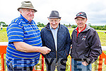 Terry O'Connor (Dingle), Ray Keane (Asdee) and Larry Walsh (Ballybunion) attending the Castleisland Races on Sunday