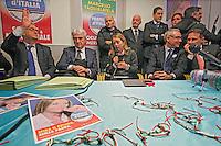 NAPOLI: PRESENTAZIONE LISTE CAMPANIA FRATELLI D'ITALIA.NELLA FOTO RISPOLI TAGLIALATELA MELONI COSSIGA CIRIELLI