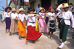 Comparsas Dancers, San Pedro Carnival, Ambergris Caye, Belize