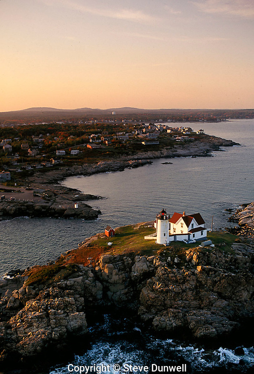 Nubble light, ME aerial York