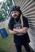 Pantera - drummer Vinnie Paul Abbott backstage at the Monsters of Rock at Donington Park UK - 04 Jun 1994.  Photo credit: Eddie Malluk / IconicPix