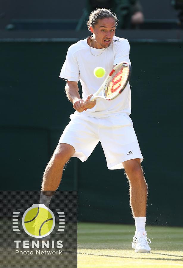 The Championships Wimbledon 2014 - The All England Lawn Tennis Club -  London - UK -  ATP - ITF - WTA-2014  - Grand Slam - Great Britain -  27th.June 2014. <br /> ALEXANDR DOLGOPOLOV (UKR)<br /> <br /> &copy; J.Hasenkopf / Tennis Photo Network
