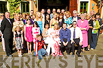 Congratulations - Amy & David Brick from Gurrane, Tralee seated centre having a wonderful time with friends and family at the Christening celebrations for their son Ronan in The Meadowlands Hotel following the ceremony in St. Brendan's Church on Saturday..