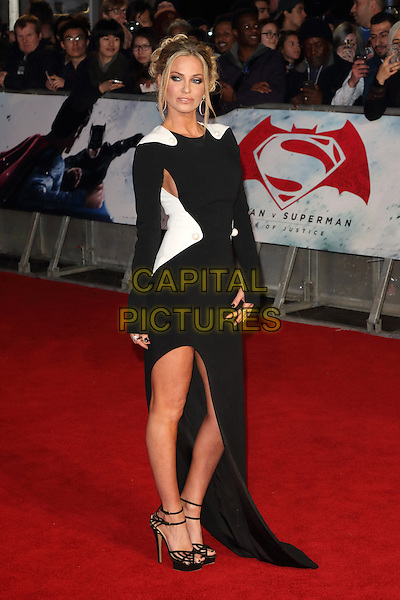 LONDON, ENGLAND - Sarah Harding at the European Premiere of Batman v Superman - the Dawn of Justice, Odeon Leicester Square, London on March 22nd 2016<br /> CAP/ROS<br /> &copy;Steve Ross/Capital Pictures