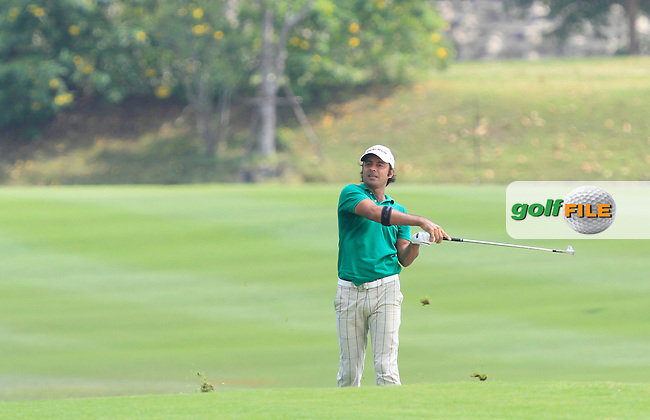 Jyoti Randhawa (IND) on the 7th fairway during Round 4 of the True Thailand Classic at the Black Mountain Golf  Club on Sunday 15th February 2015.<br /> Picture:  Thos Caffrey / www.golffile.ie