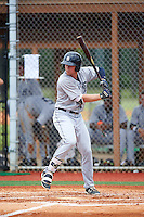 GCL Tigers West shortstop Chad Sedio (35) at bat during a game against the GCL Tigers East on August 4, 2016 at Tigertown in Lakeland, Florida.  GCL Tigers West defeated GCL Tigers East 7-3.  (Mike Janes/Four Seam Images)