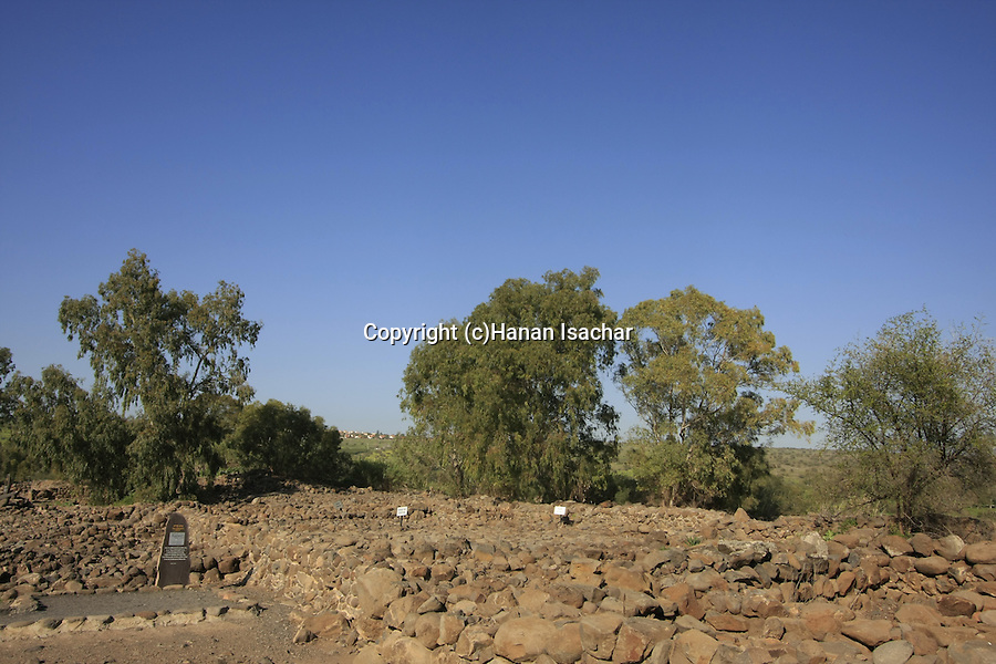 Israel, ruins at et-Tell identified with ancient Bethsaida