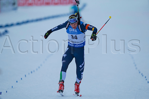 05.03.2016. Oslo Holmenkollen, Oslo, Norway. IBU Biathlon World Championships. Dominik Windisch of Italy competes in the men 10km sprint competition during the IBU World Championships Biathlon in Holmenkollen Oslo, Norway.
