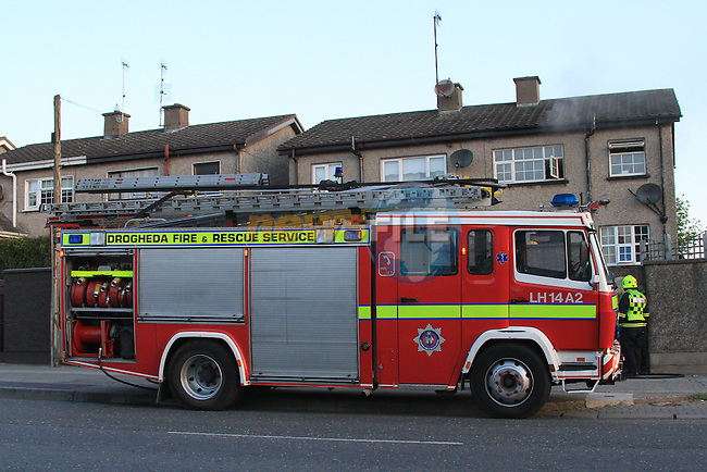 Drogheda Fire service at a house fire in Glenmore Drive..Picture: Fran Caffrey/ www.newsfile.ie.